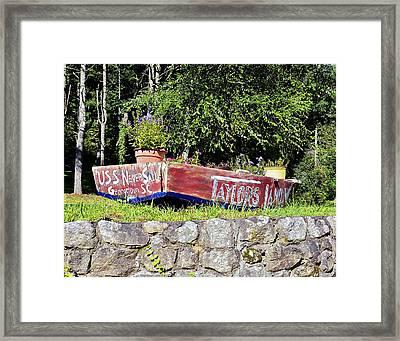 Old Boat Planter Framed Print