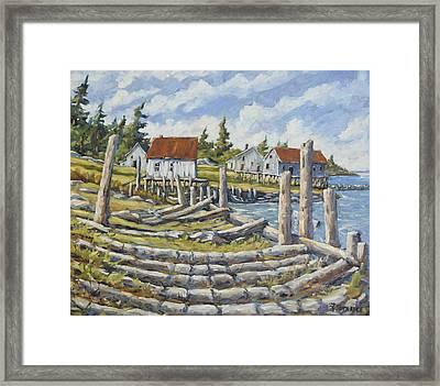 Old Boat Ramp Maine By Prankearts Framed Print by Richard T Pranke
