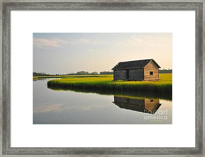 Old Boathouse Framed Print