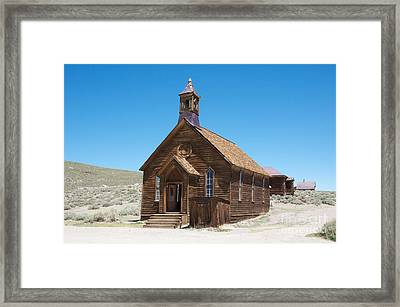 Framed Print featuring the photograph Old Bodie Church by Vinnie Oakes
