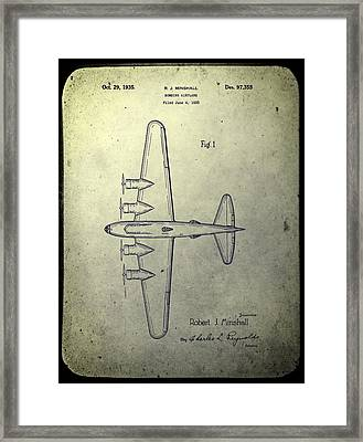 Old Bombing Aircraft Patent Framed Print