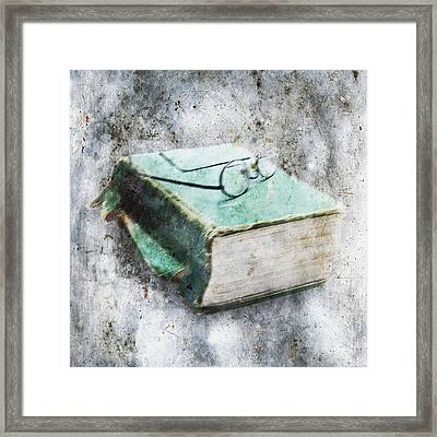 Old Book Framed Print by Skip Nall
