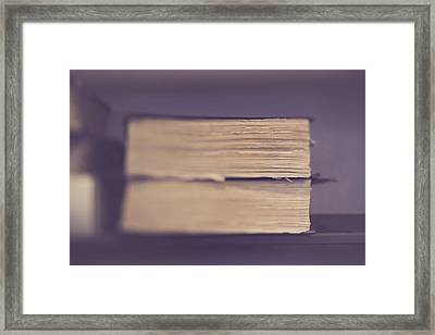 Framed Print featuring the photograph Old Books by Heather Green