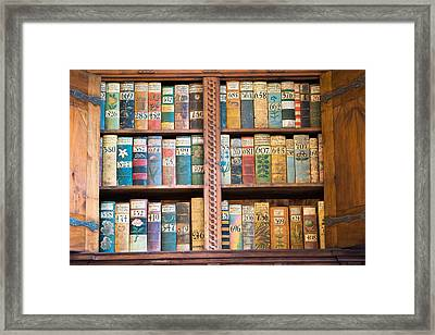 Old Books In Prague Framed Print