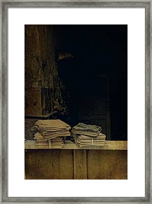 Old Books Framed Print by Jaroslaw Blaminsky