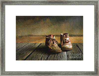 Old Boots Framed Print