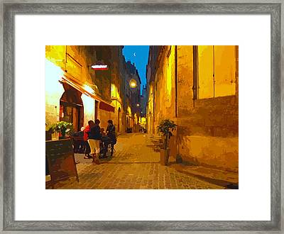 Old Bordeaux By Night Framed Print by Bishopston Fine Art