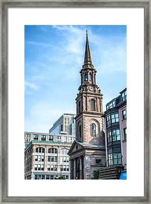 Old Boston Framed Print by Boris Mordukhayev