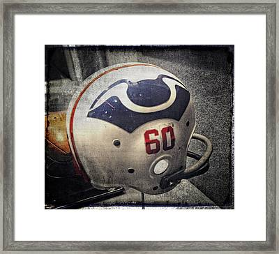 Old Boston Patriots Football Helmet Framed Print