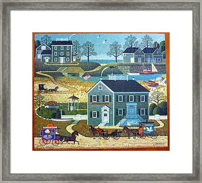 Old Boston Puzzle Framed Print