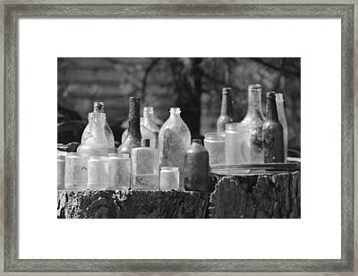 Old Bottles Framed Print by Sarah Klessig