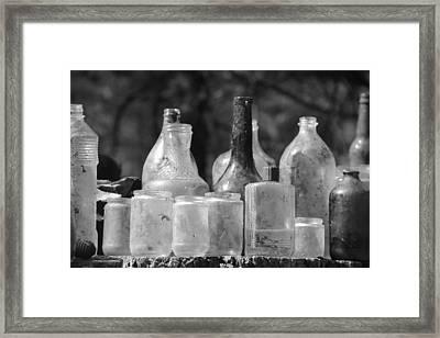 Old Bottles Two Framed Print by Sarah Klessig