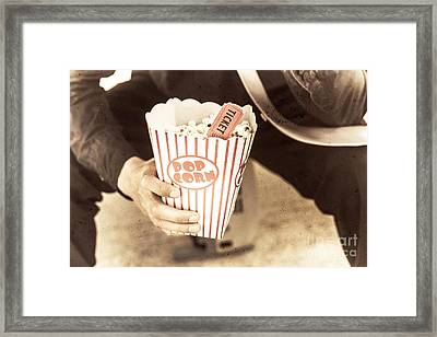 Old Box Of Retro Popcorn Framed Print by Jorgo Photography - Wall Art Gallery