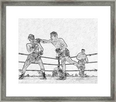 Old Boxing Old Time Framed Print by John Farr