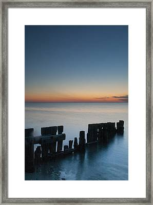 Old Breakwater Framed Print