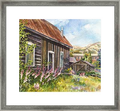 Old Breckenridge Framed Print by Anne Gifford