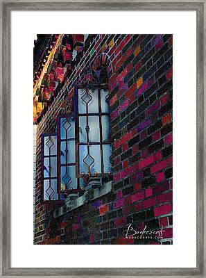 Old Brick Renewed Framed Print
