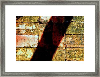 Old Brick Road Framed Print by William Tucker