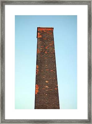 Old Brick Stack Framed Print by Valentino Visentini