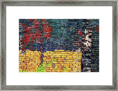 Old Brick Wall Framed Print by Jim Wright