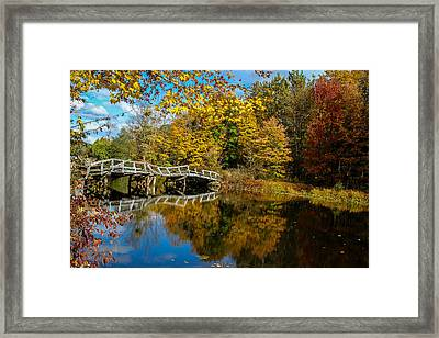 Old Bridge At Waterloo Framed Print