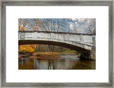 Old Bridge In Autumn Framed Print