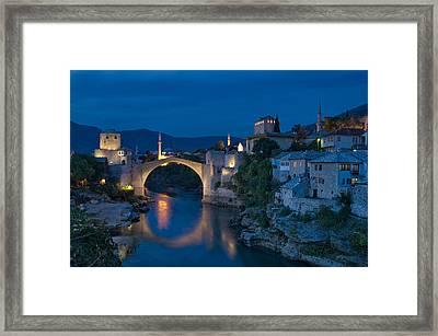 Old Bridge In Mostar Framed Print by Ayhan Altun