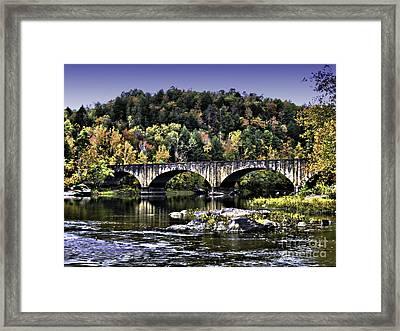Old Bridge Framed Print by Ken Frischkorn