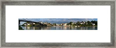 Old Bridge Over The Sea, Le Bono, Gulf Framed Print