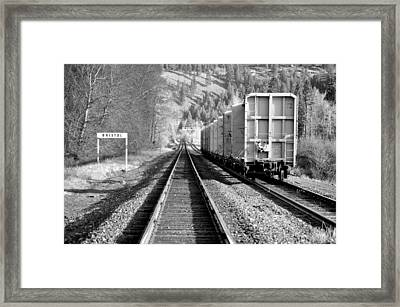 Old Bristol Rail In Ellensburg Framed Print