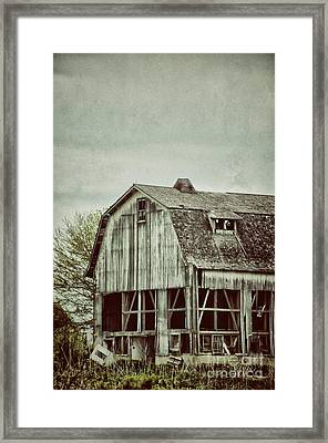 Old Broken Barn Framed Print by Birgit Tyrrell