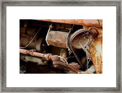 Old Broken Tractor Framed Print