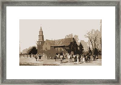 Old Bruton Church In The Time Of Lord Dunmore, Thompson Framed Print