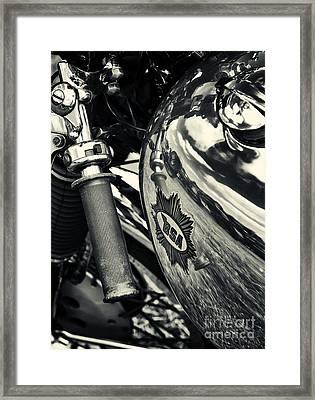 Old Bsa Cafe Racer Framed Print