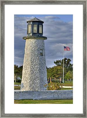 Old Buckroe Lighthouse Framed Print by Jerry Gammon