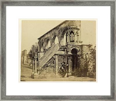 Old Building Framed Print by British Library