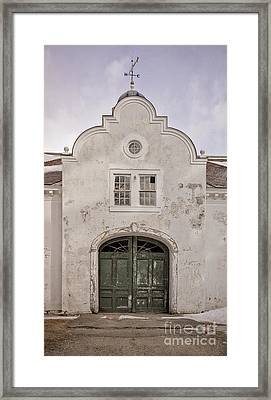 Old Building From The Guilded Age With Weathervane Framed Print