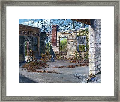 Old Building In Stonewall Louisiana  Framed Print