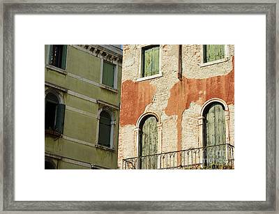 Old Buildings Facades Framed Print