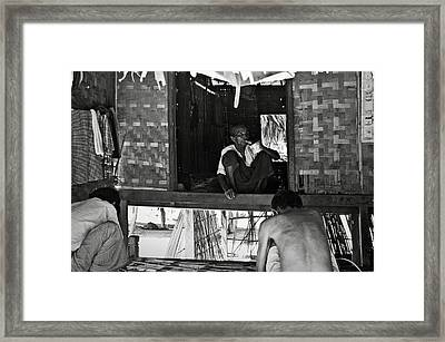 Old Burmese Smoker Woman Framed Print by RicardMN Photography