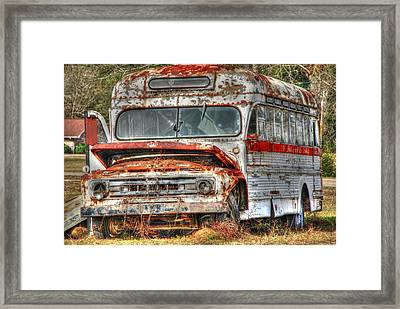 Old Bus 01 Framed Print by Andy Savelle
