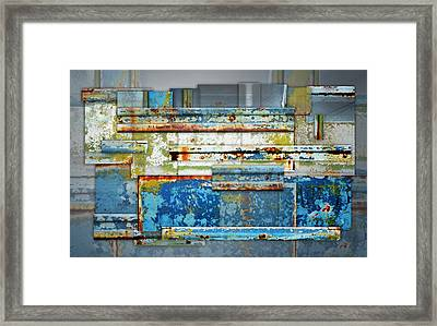 Metal Abstract Framed Print by Steven  Michael