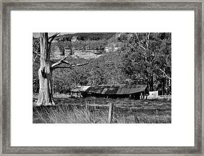 Old Bush Shed Framed Print