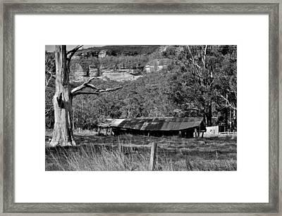 Old Bush Shed Framed Print by Marty  Cobcroft