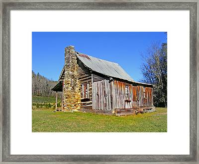 Old Cabin Along Macedonia Church Road Framed Print