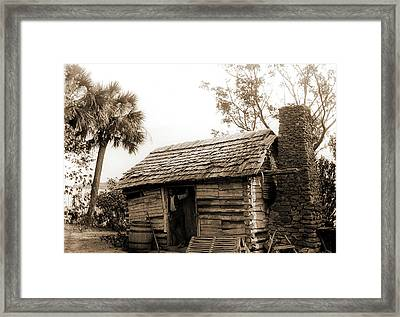 Old Cabin At Turkey Creek, Log Cabins, African Americans Framed Print
