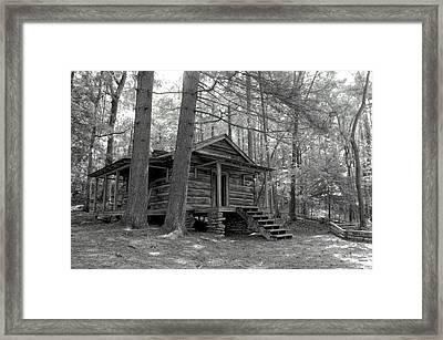 Old Cabin  Framed Print by Bob Jackson
