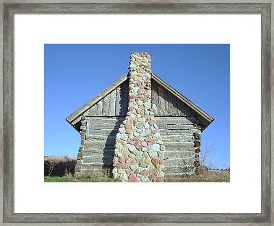 Framed Print featuring the photograph Old Cabin Chimney by J L Zarek