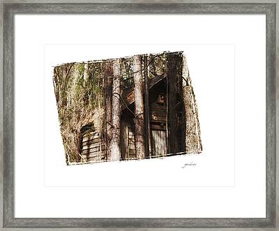 Old Cabin In Georga Framed Print by Gary Gunderson