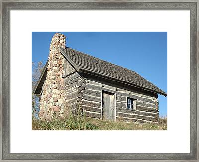 Framed Print featuring the photograph Old Cabin by J L Zarek